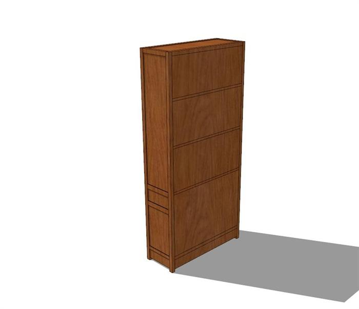 中式风格衣柜设计su模型