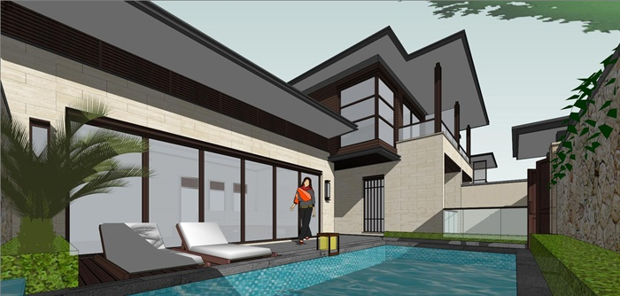 新中式風格精品海南別墅群建筑設計su模型,模型為現代中式風格,模型制作詳細精致完整,模型有材質貼圖,具有很好的使用價值,有需要請下載使用歡迎下載。