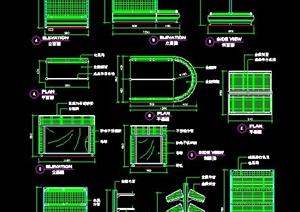 多款超市货架设计施工图