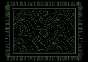 现代多种不同的地毯设计cad图