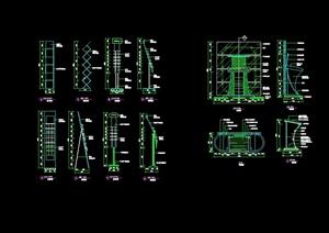 现代风格详细资料展架设计cad施工详图