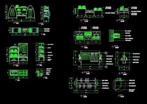 现代风格服装店服装类及道具设计cad节点图