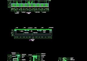 多款服务台总台设计施工图
