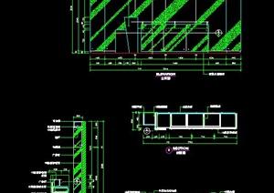 商业办公空间服务台设计施工图