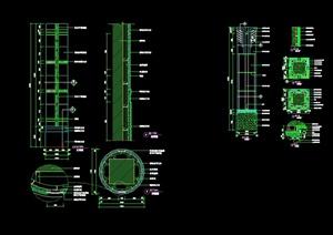 现代风格详细室内柱子设计cad施工详图