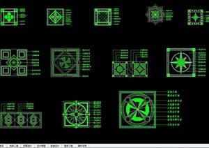 现代风格详细地面拼花设计cad施工图图集