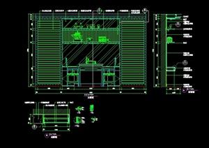 现代风格详细造型墙设计cad施工详图