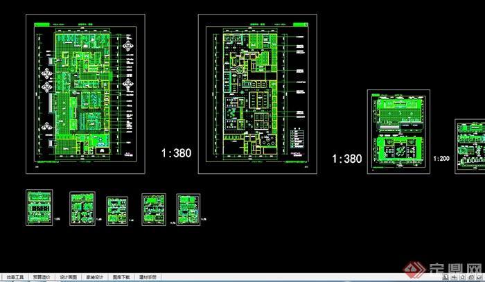 现代风格医疗机构体检中心设计cad施工图[原创燕秀cad不安装上图片