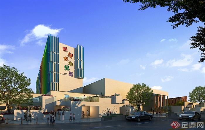 现代风格幼儿园详细建筑设计pdf方案文本(CAD、SU模型)(3)