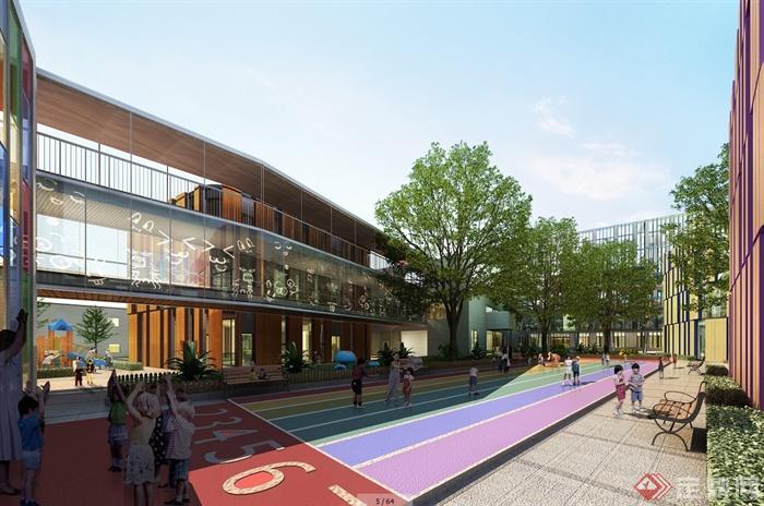 现代风格幼儿园详细建筑设计pdf方案文本(CAD、SU模型)(4)