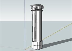 多种不同的建筑圆柱、钢架设计SU(草图大师)模型