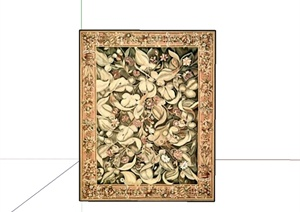 12种不同的地毯设计SU(草图大师)模型