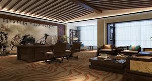 【西安龙发装饰】工装案例——茶楼+办公室||中式+简约风格 装修效果图