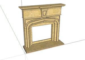 25种不同的壁炉详细设计SU(草图大师)模型