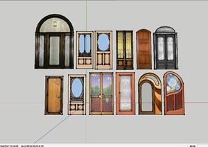 151种不同的室内门设计SU(草图大师)模型
