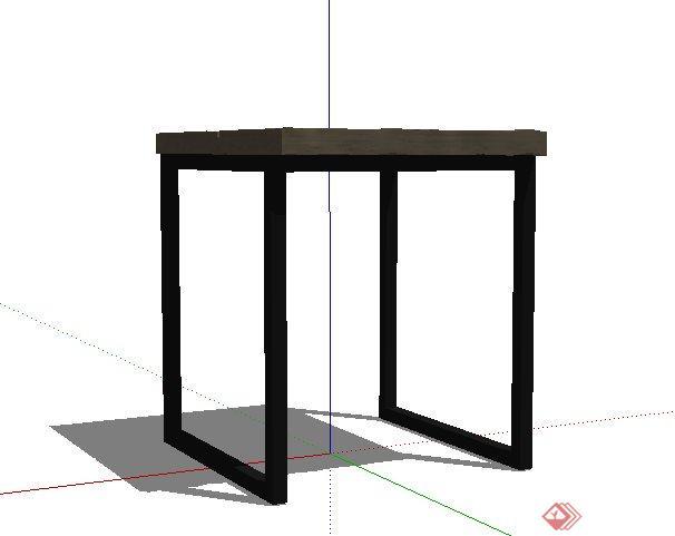 简约小方桌设计su模型(2)