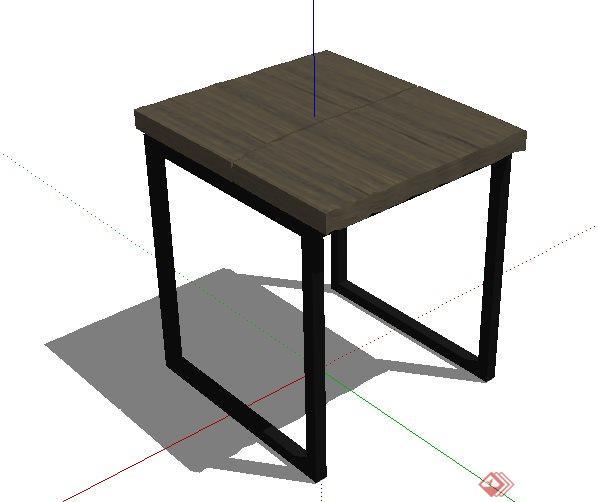 简约小方桌设计su模型(1)