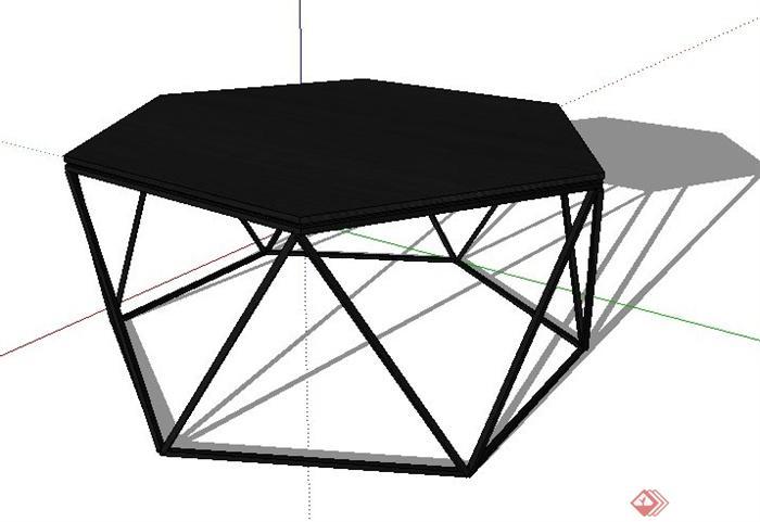 六边形小桌子su模型(1)