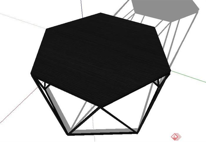 六边形小桌子su模型(3)