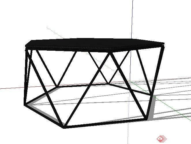 六边形小桌子su模型(2)