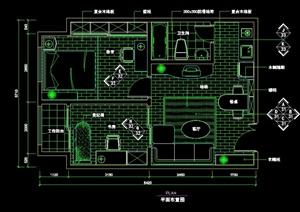 欧式风格二室一厅装修设计cad施工图