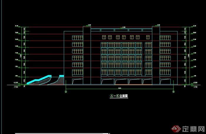 某学校艺术楼建筑设计cad方案(3)
