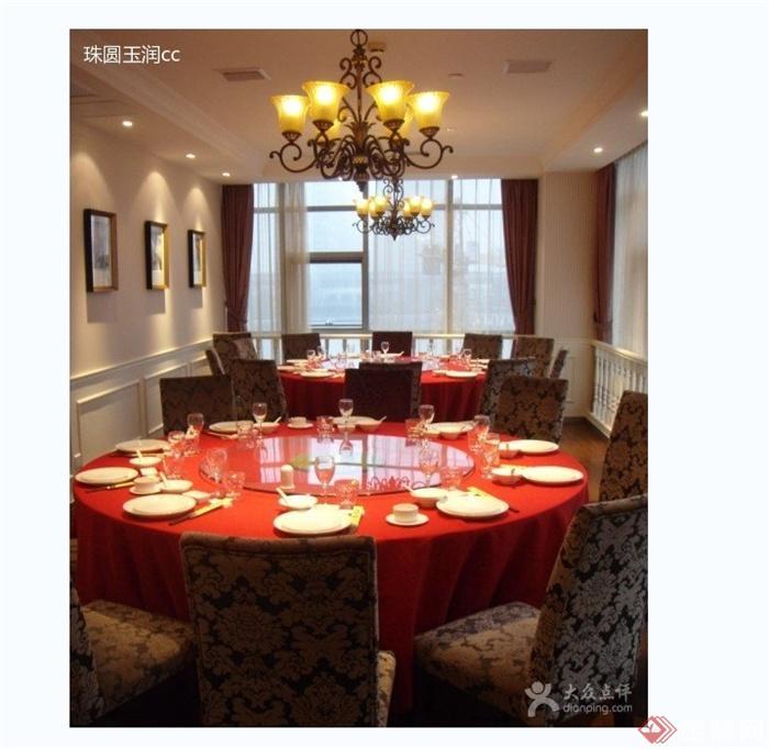 某现代风格详细外婆人家餐厅设计cad施工及实景图(1)