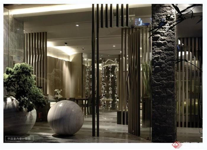 现代风格日本料理店详细设计cad施工图及实景图(2)
