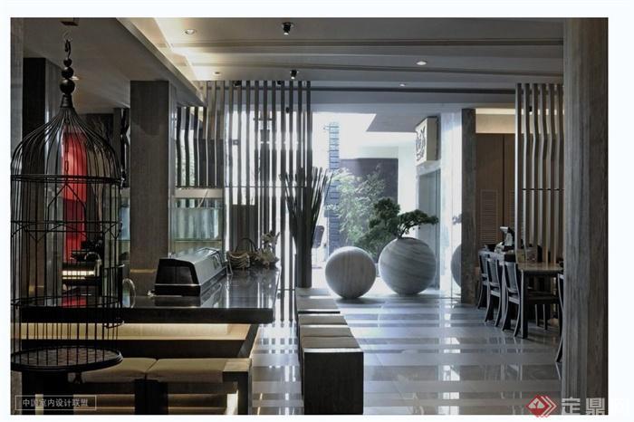 现代风格日本料理店详细设计cad施工图及实景图(3)
