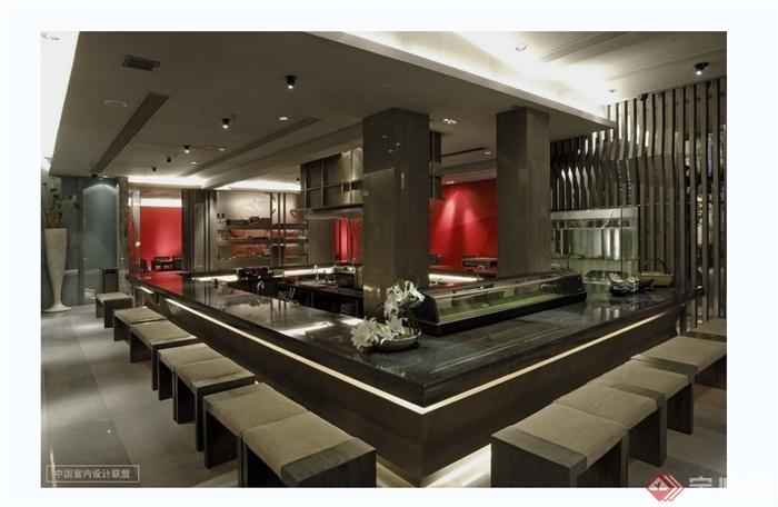 现代风格日本料理店详细设计cad施工图及实景图(4)