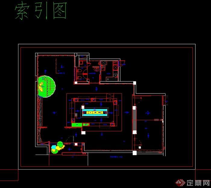现代风格日本料理店详细设计cad施工图及实景图(7)
