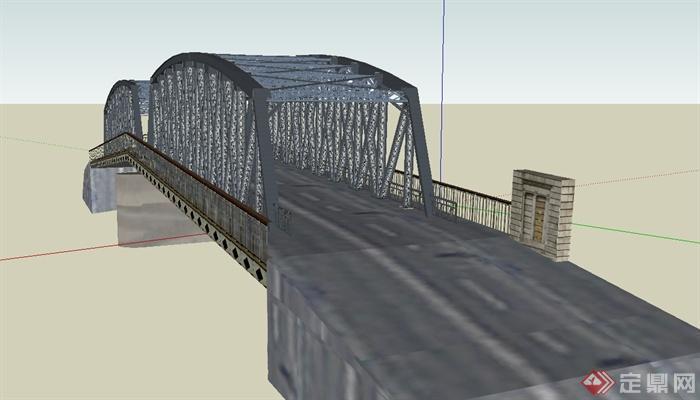 现代钢架结构桥设计su模型(1)