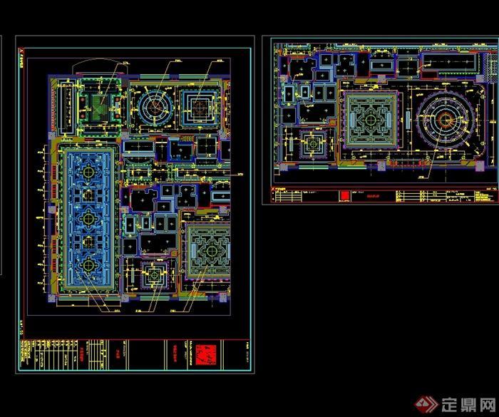现代风格详细梦露红酒会所设计cad施工图(2)