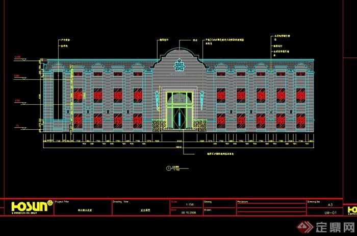 某民国风格餐馆详细完整的设计cad施工图、竣工图、现场照片(1)