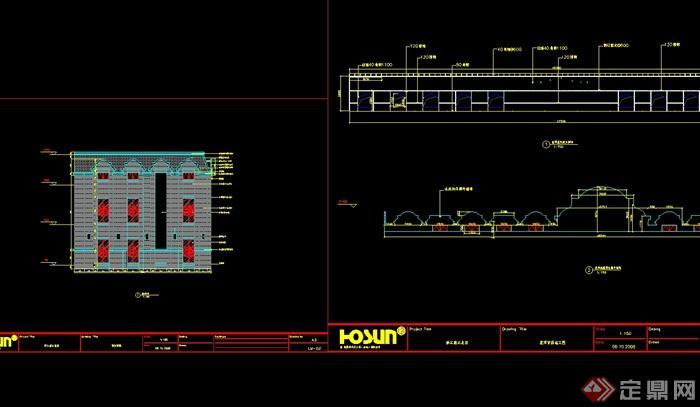 某民国风格餐馆详细完整的设计cad施工图、竣工图、现场照片(2)