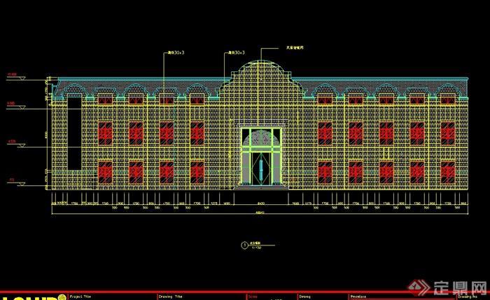 某民国风格餐馆详细完整的设计cad施工图、竣工图、现场照片(3)