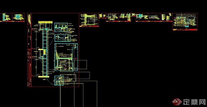 某民国风格餐馆详细完整的设计cad施工图、竣工图、现场照片(6)