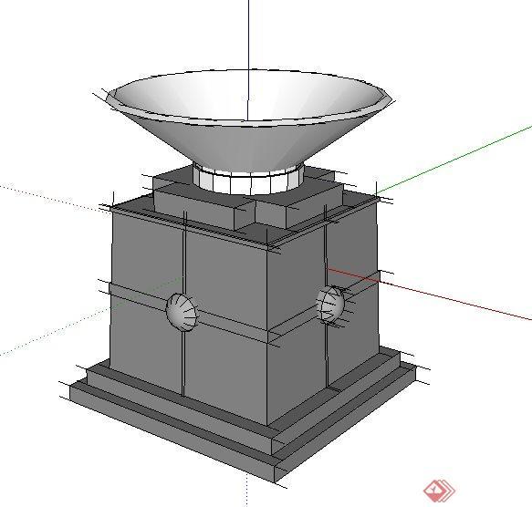 25款花钵素材设计Su模型(2)