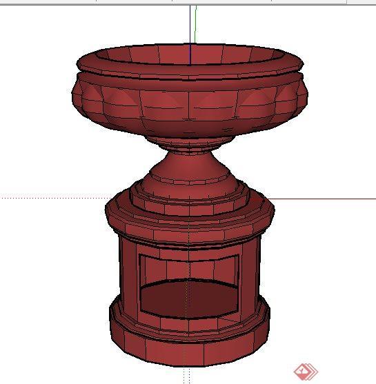 25款花钵素材设计Su模型(3)