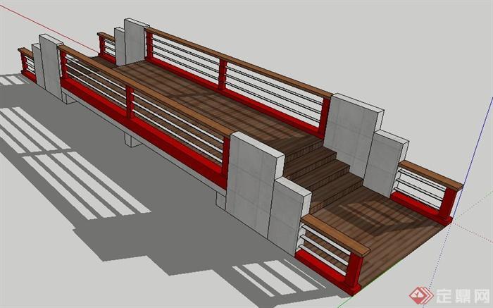 现代园林景观桥设计su模型[原创]