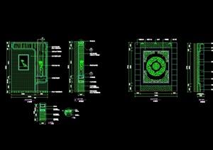 三种不同的室内装饰墙设计cad施工图块