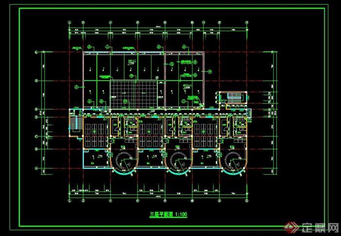 某九班幼儿园建筑设计全套cad施工图纸[原创]