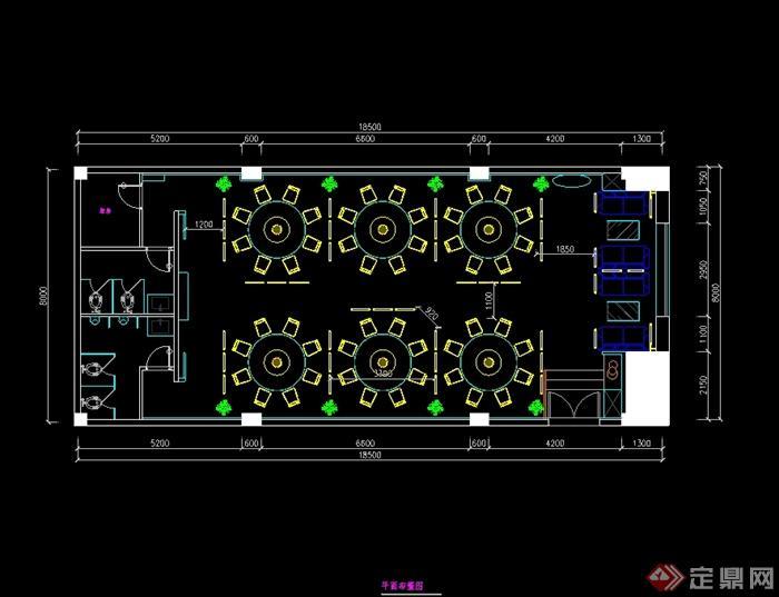 某现代中式风格详细凯歌归茶楼多功能厅详细cad施工图及效果图(6)