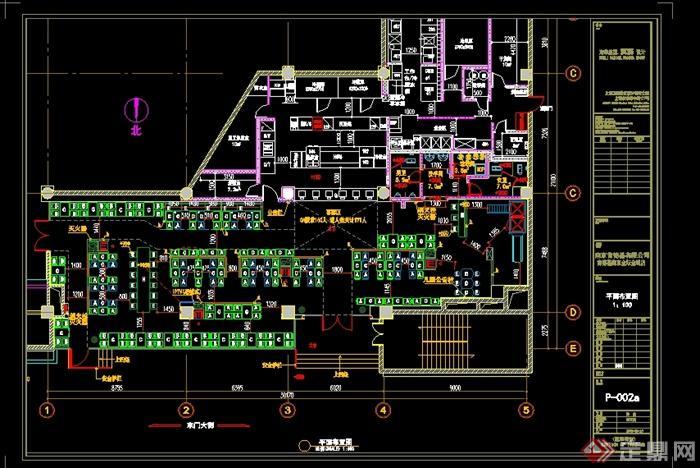 某现代风格详细完整的肯德基室内施工图设计cad图纸及效果图(5)