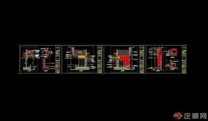 某现代风格详细完整的肯德基室内施工图设计cad图纸及效果图(10)