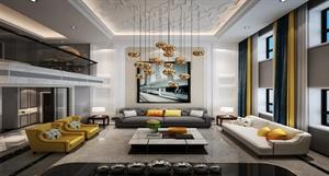【西安龙发装饰】280㎡自然界 || 别墅设计||时尚简约风格||装修效果图