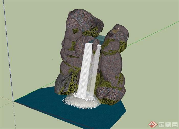179个园林景观石头假山景观石置石单体模型(2)