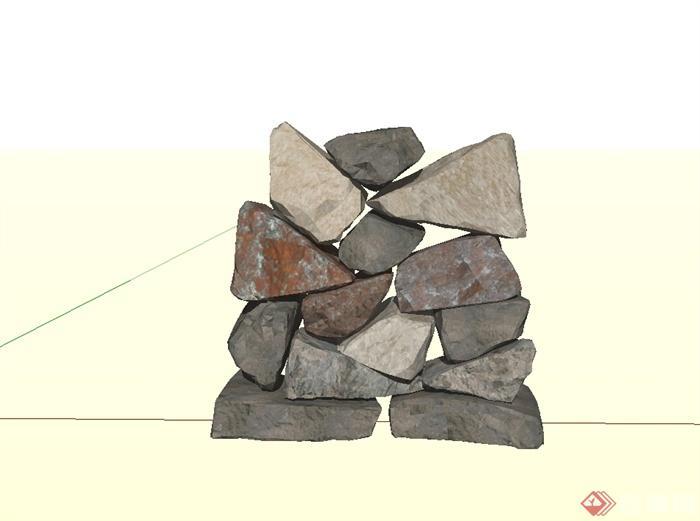 179个园林景观石头假山景观石置石单体模型(1)