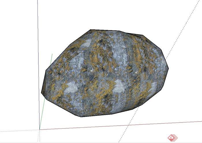 179个园林景观石头假山景观石置石单体模型(3)