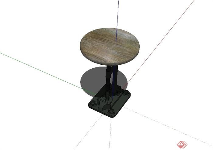 某现代风格独特造型的桌子设计su模型(2)